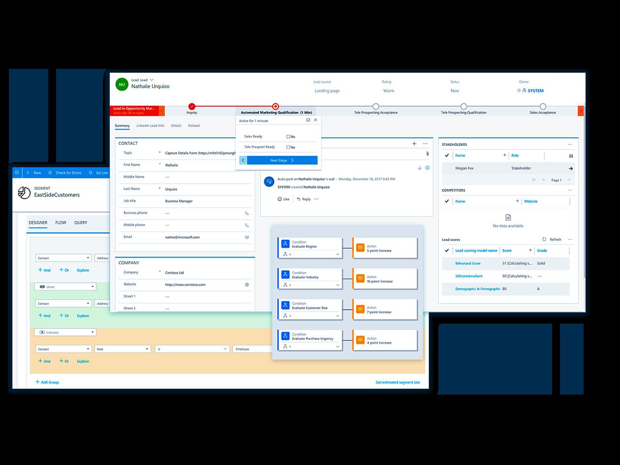Microsoft Dynamics 365 for Marketing Sales screenshot