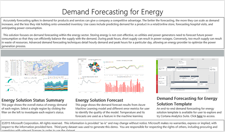 Power BI for Energy Forecasting Dashboard